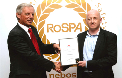 John Collecting the RoSPA Guardian Angel Award 2014